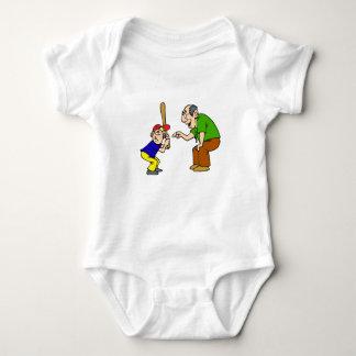 grandpa and boy batter baby bodysuit