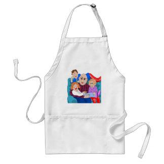 Grandpa and grandchildren adult apron