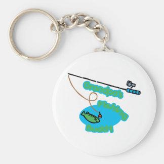Grandpa's Fishing Buddy Basic Round Button Keychain