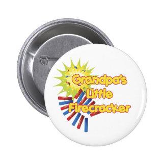 Grandpa's Little Firecracker Pinback Button