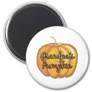 Grandpa's Pumpkin 2 Inch Round Magnet