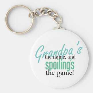 Grandpa's the Name, and Spoiling's the G Basic Round Button Keychain