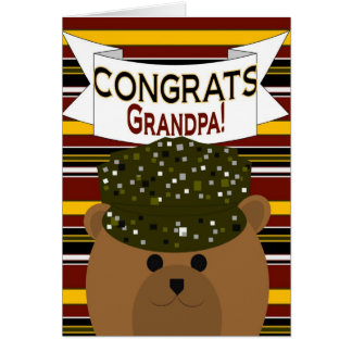 Grandpa - Army Soldier Congrats! Greeting Card