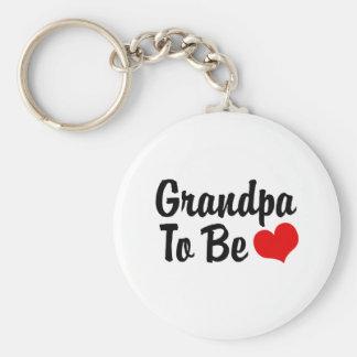 Grandpa Basic Round Button Keychain