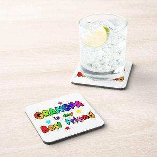 Grandpa Best Friend Drink Coaster