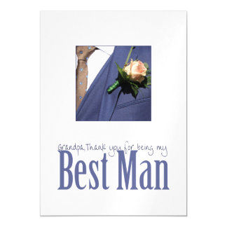 Grandpa best man thank you magnetic card