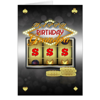 Grandpa Birthday Greeting Card With Slots And Coin