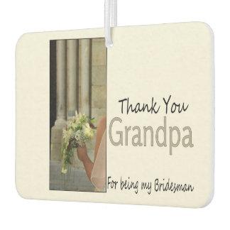 Grandpa Bridesman thank you Air Freshener