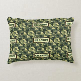 Grandpa Camo Accent Pillow