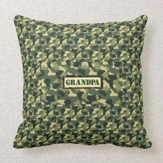 Grandpa Camo Throw Pillow
