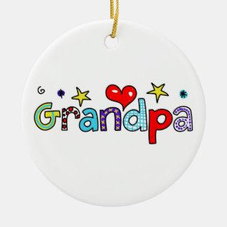 Grandpa Ceramic Ornament