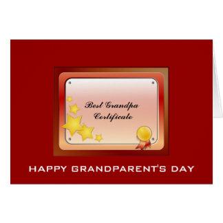 Grandpa Certificate(Personalize) Card