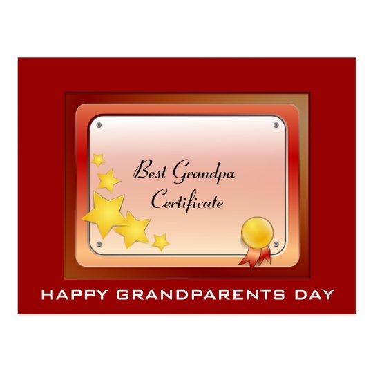 Grandpa_Certificate Postcard (Personalize)