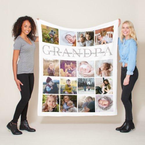 Grandpa Custom Personalized Fleece Blanket