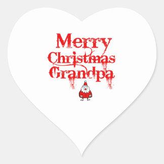 grandpa design heart sticker