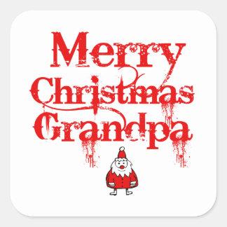 grandpa design square sticker