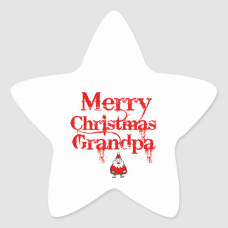 grandpa design star sticker