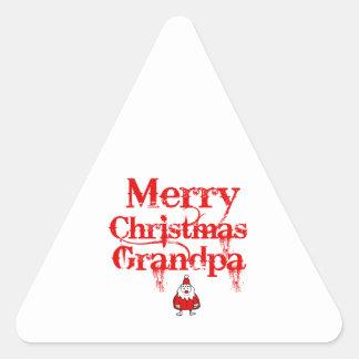 grandpa design triangle sticker
