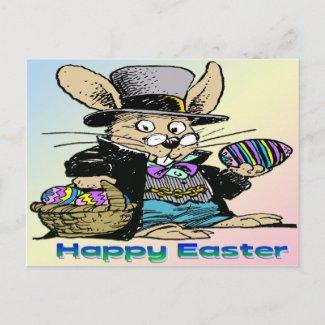 Grandpa Easter Bunny postcard