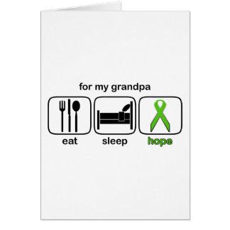 Grandpa Eat Sleep Hope - Lymphoma Card