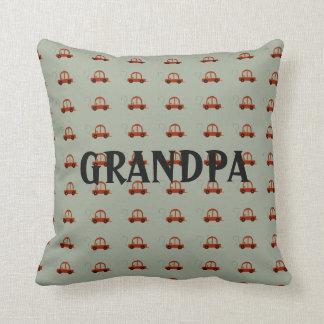 Grandpa Electric Cartoon Car Throw Pillow