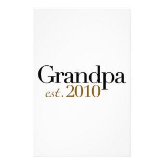 Grandpa Est 2010 Stationery