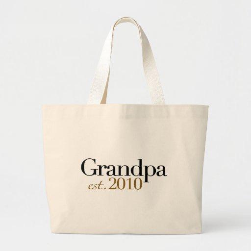 Grandpa Est 2010 Tote Bag