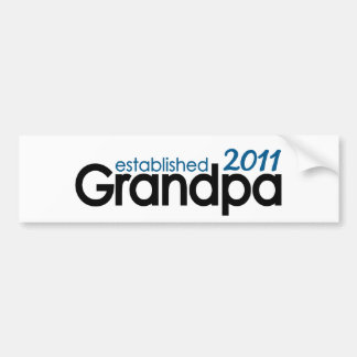 grandpa established 2011 bumper stickers