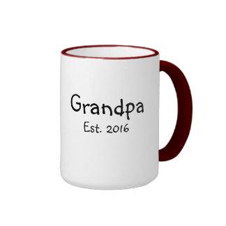 Grandpa - Established 2016 - 15 oz Coffee Mug
