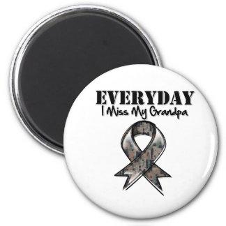 Grandpa - Everyday I Miss My Hero Military 2 Inch Round Magnet