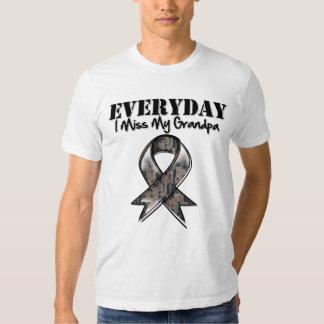 Grandpa - Everyday I Miss My Hero Military T-shirt