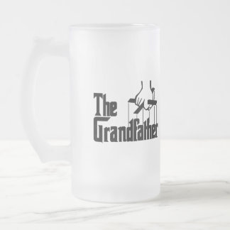 Grandpa Gift 16 Oz Frosted Glass Beer Mug