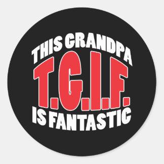 Grandpa Gift Classic Round Sticker