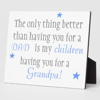 Grandpa gift plaques