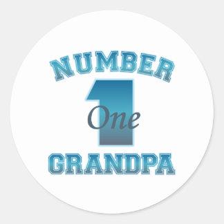 Grandpa Gift Round Stickers