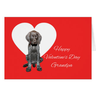 Grandpa Glossy Grizzly Valentine Puppy Love Greeting Card