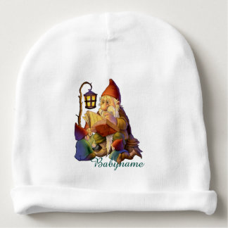 Grandpa Gnome Storyteller Personalized Baby Beanie