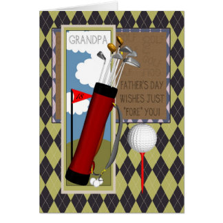 Grandpa Golf Club Father's Day Greeting Card