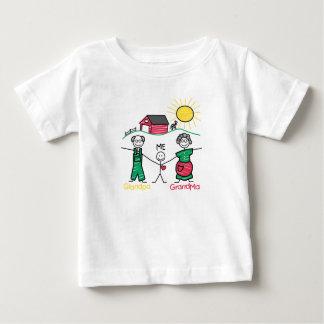 Grandpa Grandma & Me Baby T-Shirt