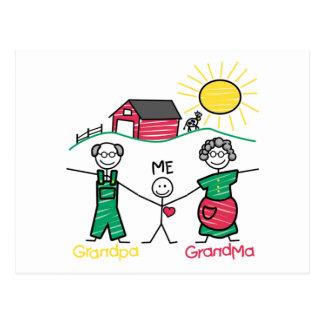 Grandpa Grandma & Me Postcard