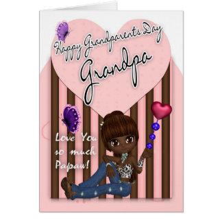 Grandpa, Grandparents Day Card - Cute Little Girl
