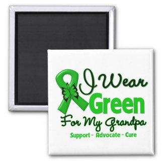 Grandpa - Green  Awareness Ribbon 2 Inch Square Magnet