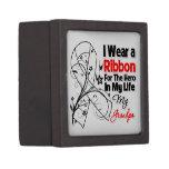 Grandpa Hero in My Life Lung Cancer Jewelry Box