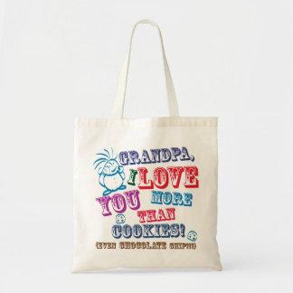 Grandpa I Love You More Than Cookies! Budget Tote Bag