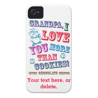 Grandpa I Love You More Than Cookies! Case-Mate iPhone 4 Case