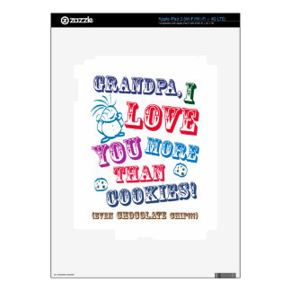 Grandpa I Love You More Than Cookies! Decals For iPad 3
