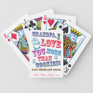 Grandpa I Love You More Than Cookies! Card Deck