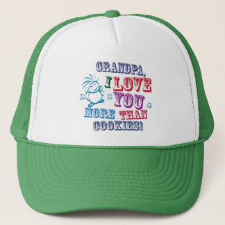 Grandpa I Love You More Than Cookies! Trucker Hat