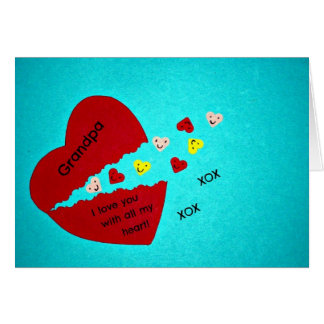 Grandpa, I love you with all my heart! Greeting Card