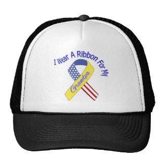 Grandpa - I Wear A Ribbon Military Patriotic Trucker Hat